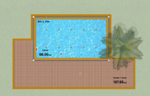 pool and outdoor plan