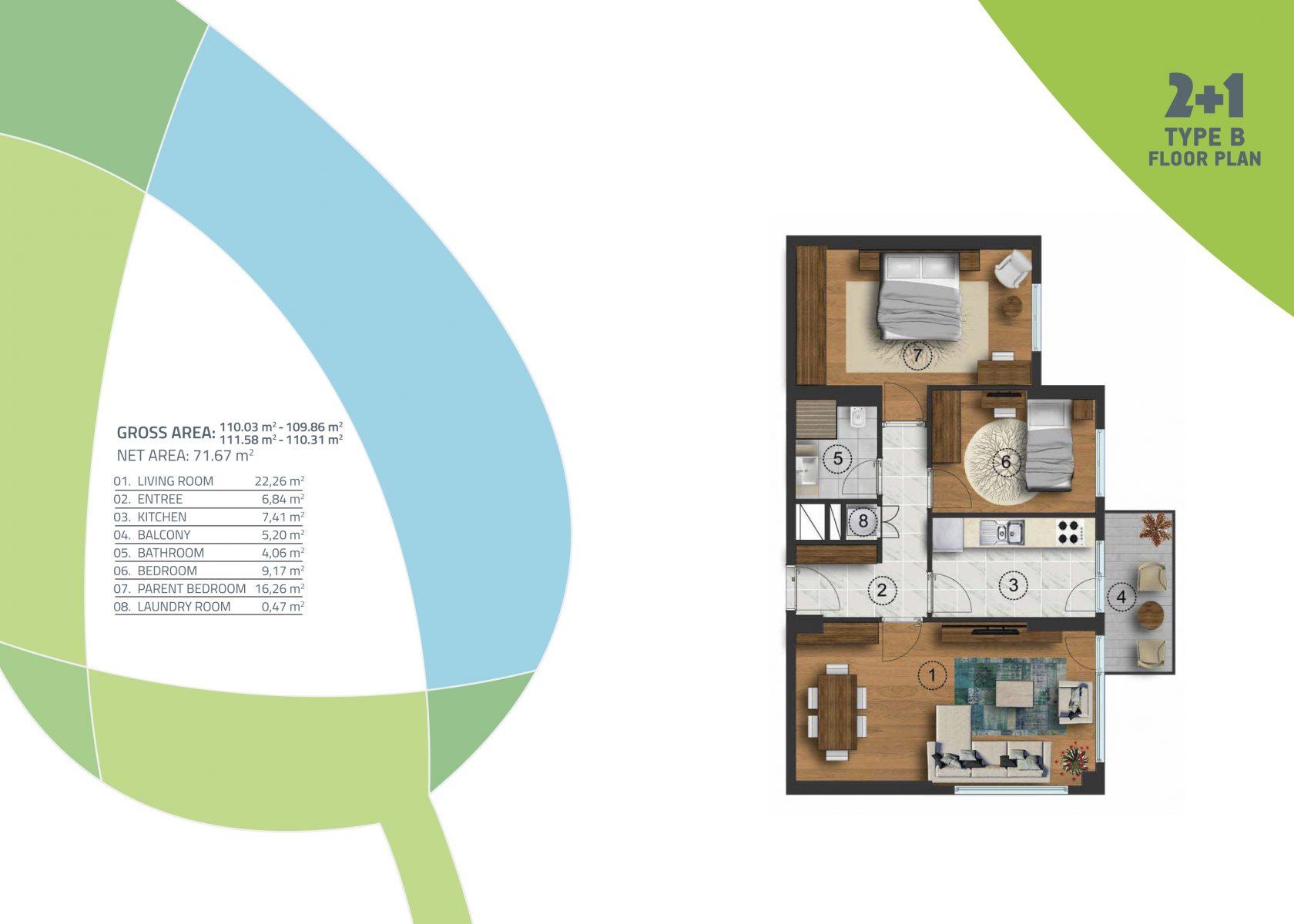 2 bedroom 110.03 sqm