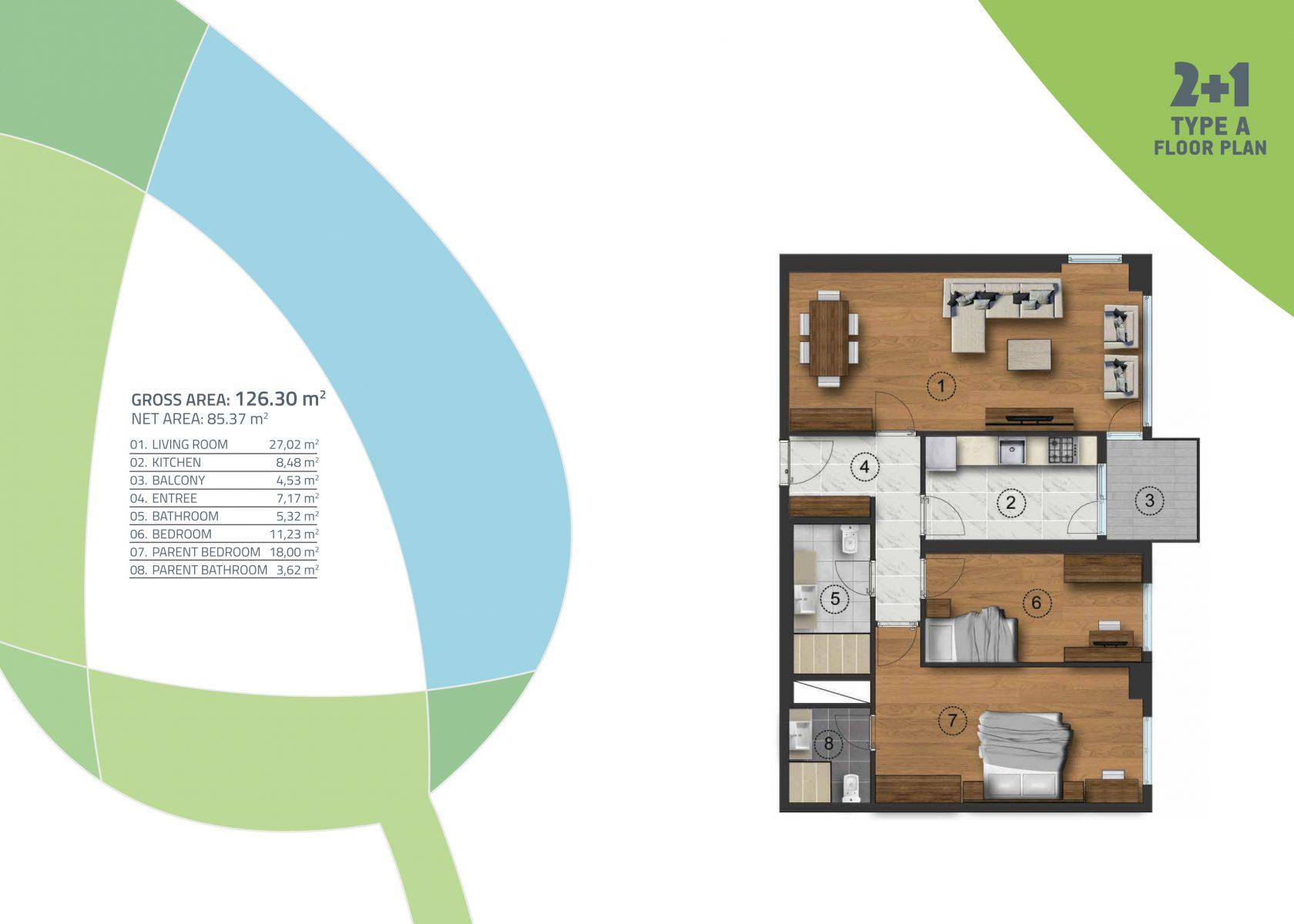 2 bedroom 126.30 sqm
