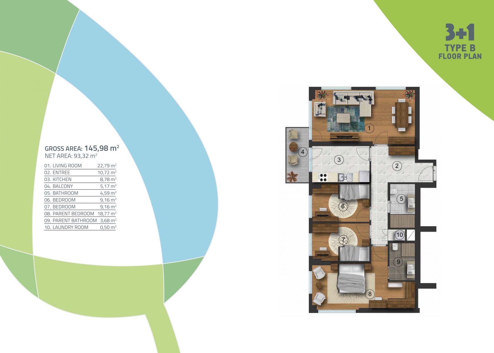 3 bedroom 145.98 sqm