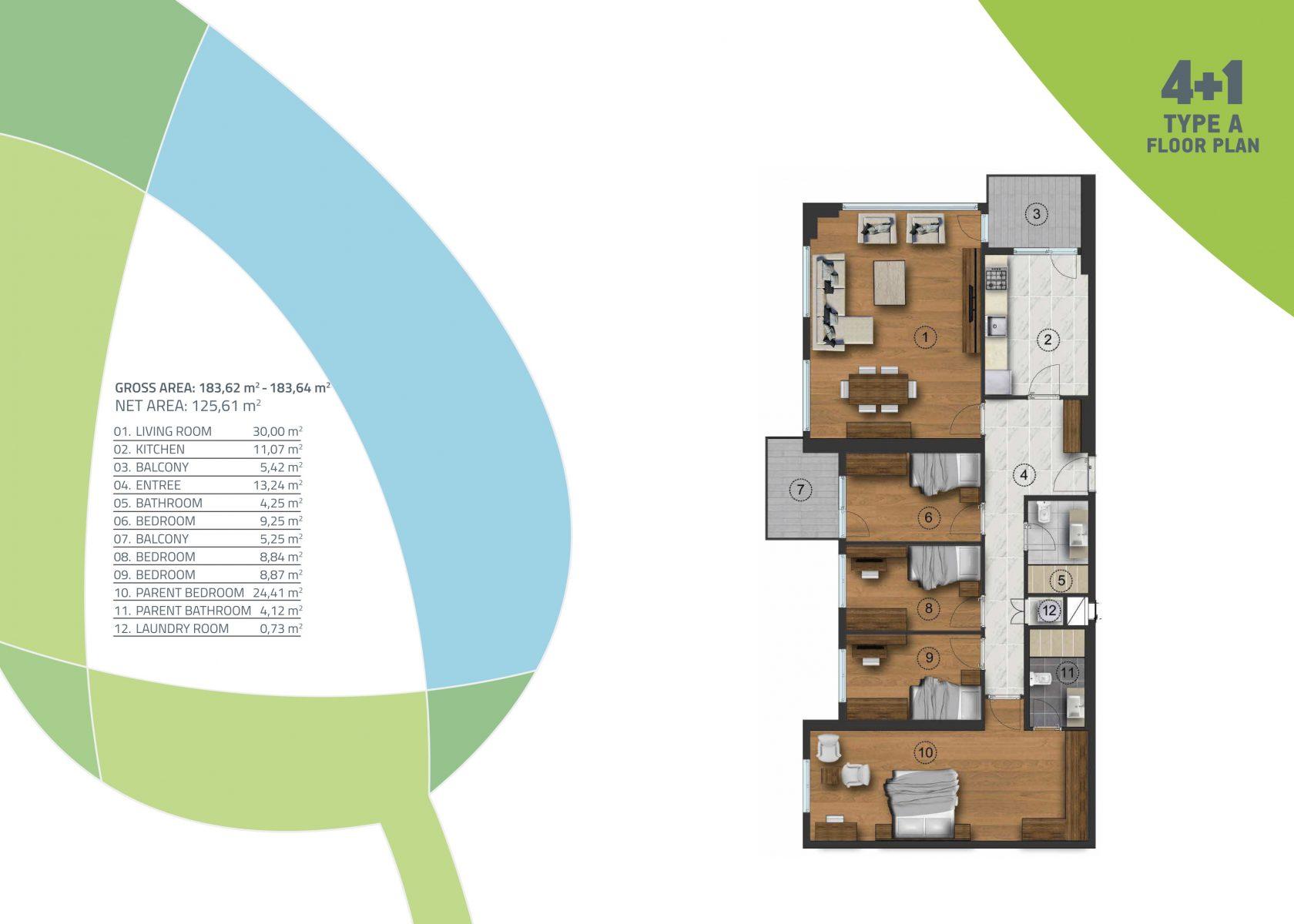 4 bedroom 183.62 sqm