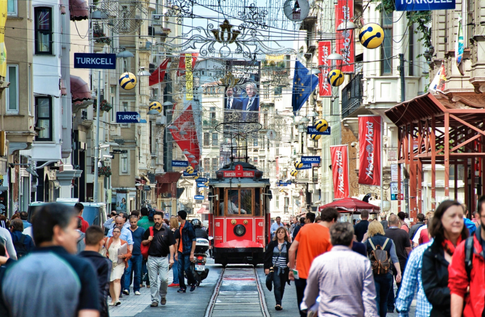 Istiklal street  and Taksim Square is both local and touristic center of Istanbul.